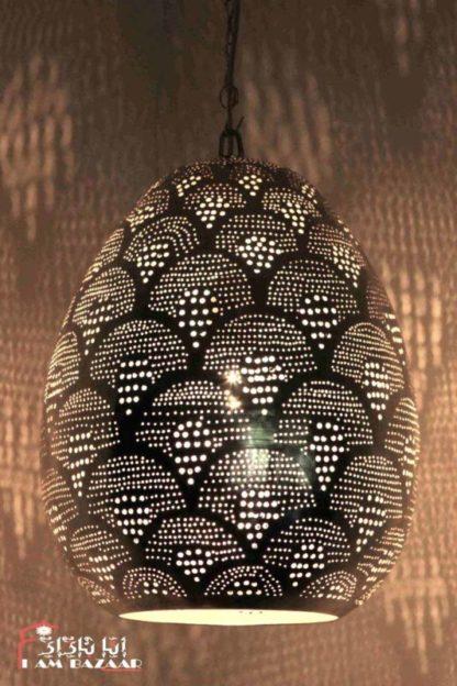 Filigrain hanglamp Zyer met waaier patroon