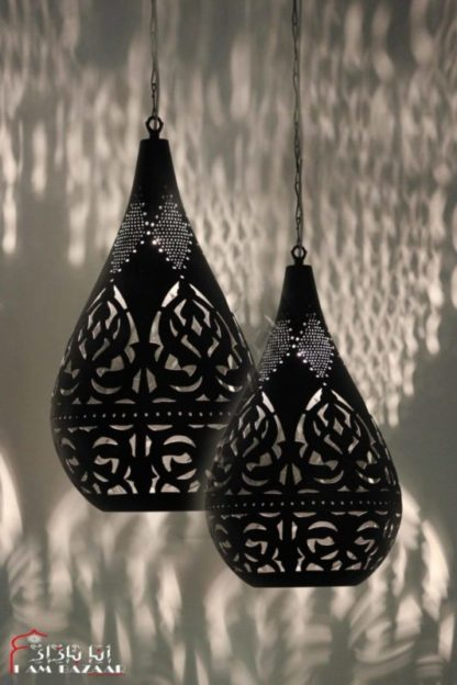 Design hanglamp Naaumi zwart set van 2 (L) lampen
