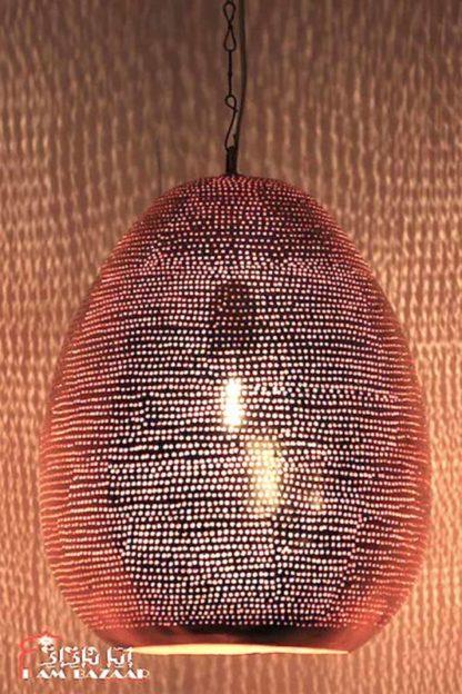 Filigrain hanglamp Zyer in rode koper kleur