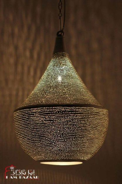 Hanglamp Nahlaa zilver met gaatjes