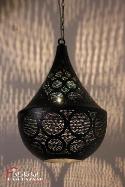 Design lamp zwart met cirkels patronen