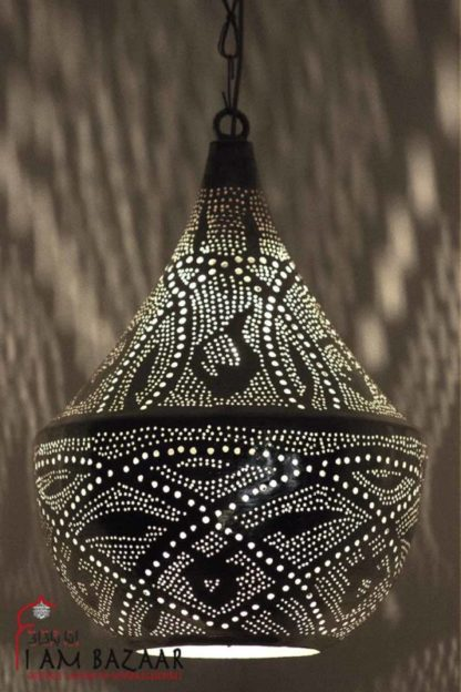 Hanglamp Nahlaa zilver met Original patroon