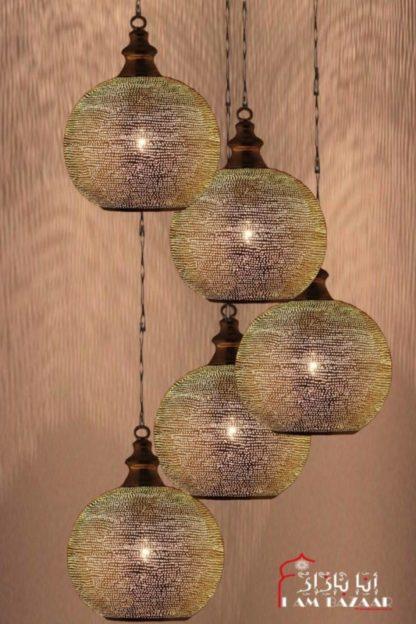 Set van 5 zilveren bollampen (M) met gaatjes