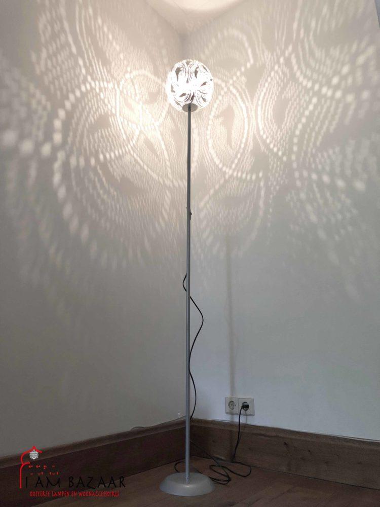 Extreem Marokkaanse Vloerlamp zilver - Staande lampen   I AM BAZAAR #BJ83