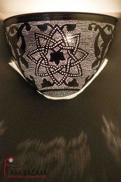 Wandlamp Star met patroon
