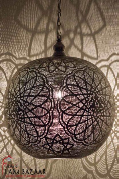 Oosterse hanglamp Crosslines zilver (XXXL)
