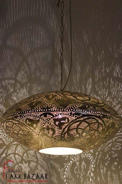 Egyptische lamp Zohra goud (XXXL)